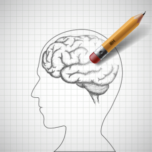 Illustration of the human brain being erased. TryMunity