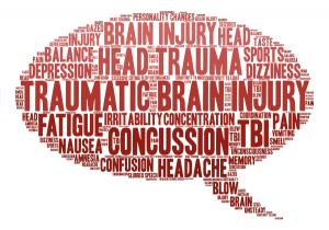 Graphic illustrating the effects of traumatic brain injury. TryMunity.