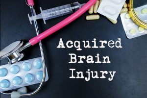 The recovery process for an acquired brain injury.