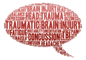 Graphic illustrating the effects of traumatic brain injury. TryMunity.